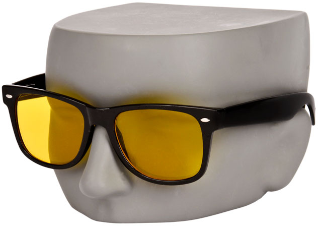 The Wrap Yellow Tint Lens Night Driving Sunglasses by KD
