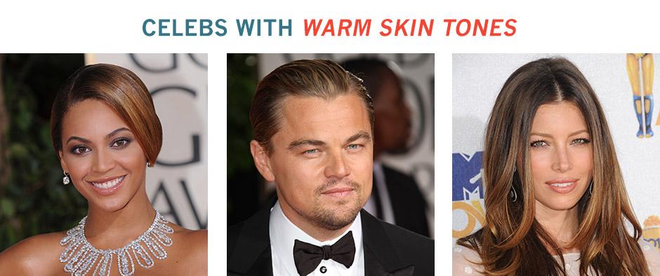 celebrities with warm skin tones