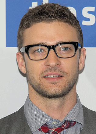 justin timberlake in glasses