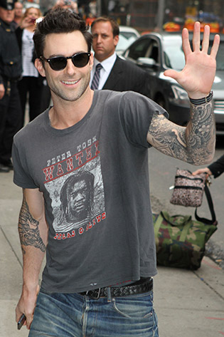 Adam Levine in sunglasses