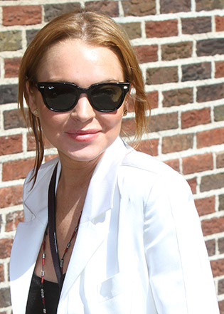 Lindsay Lohan in sunglasses