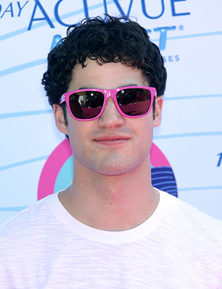 Darren Criss in wayfarers