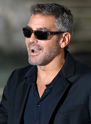 George Clooney wearing sunglasses