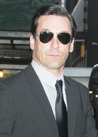 Jon Hamm in aviator sunglasses
