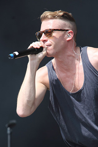 Macklemore wearing sunglasses