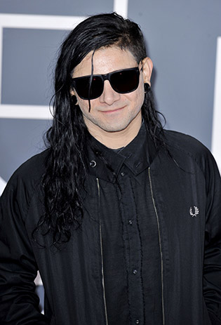 Skrillex wearing sunglasses