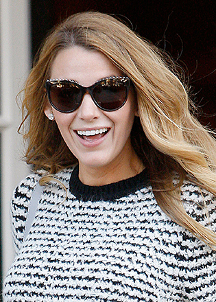 Blake Lively in cat eye sunglasses
