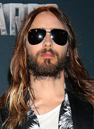 Jared Leto in aviator sunglasses