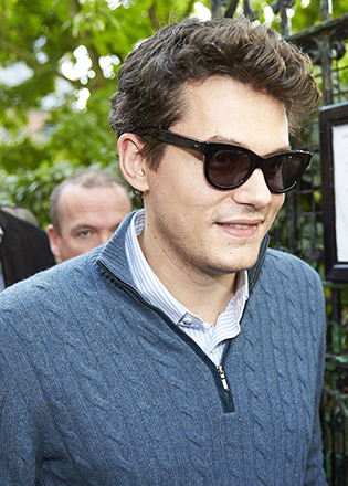 John Mayer in retro sunglasses