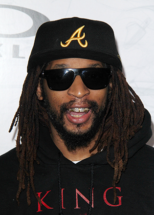 Lil John in shield style sunglasses
