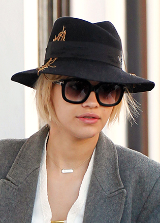 Rita Ora in oversized sunglasses