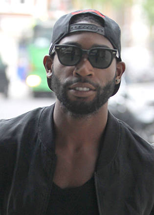 Tinie Tempah in retro sunglasses