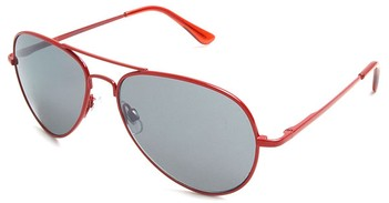 Red Mirrored Aviator Sunglasses :  eyewear aviators red sunglasses womens fashion