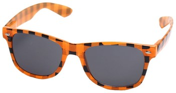 Orange Checkered Sunglasses