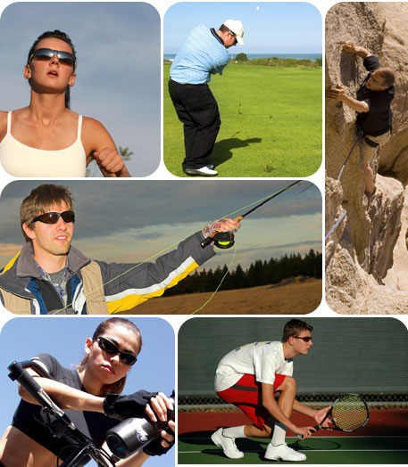 Montage of Athletes Wearing Sunglasses