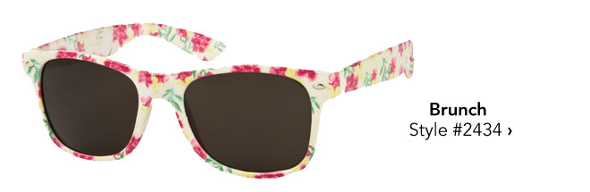 printed sunglasses for brunch