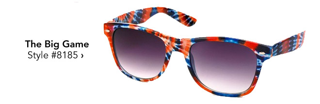 printed sunglasses for the big game