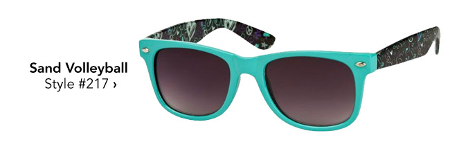 printed sunglasses for volleyball