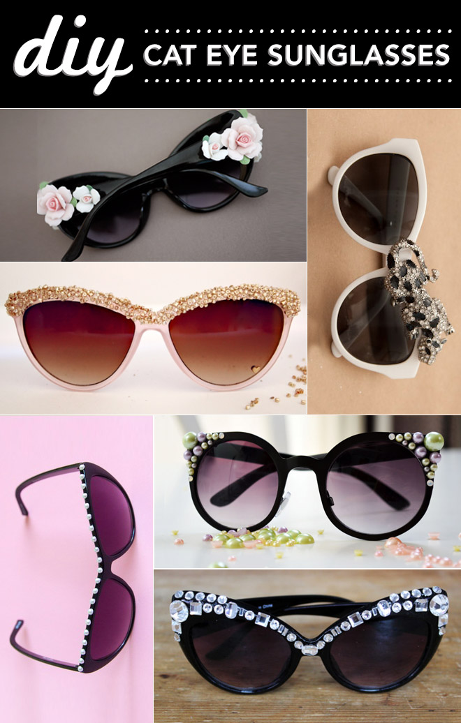 DIY cat eye sunglasses