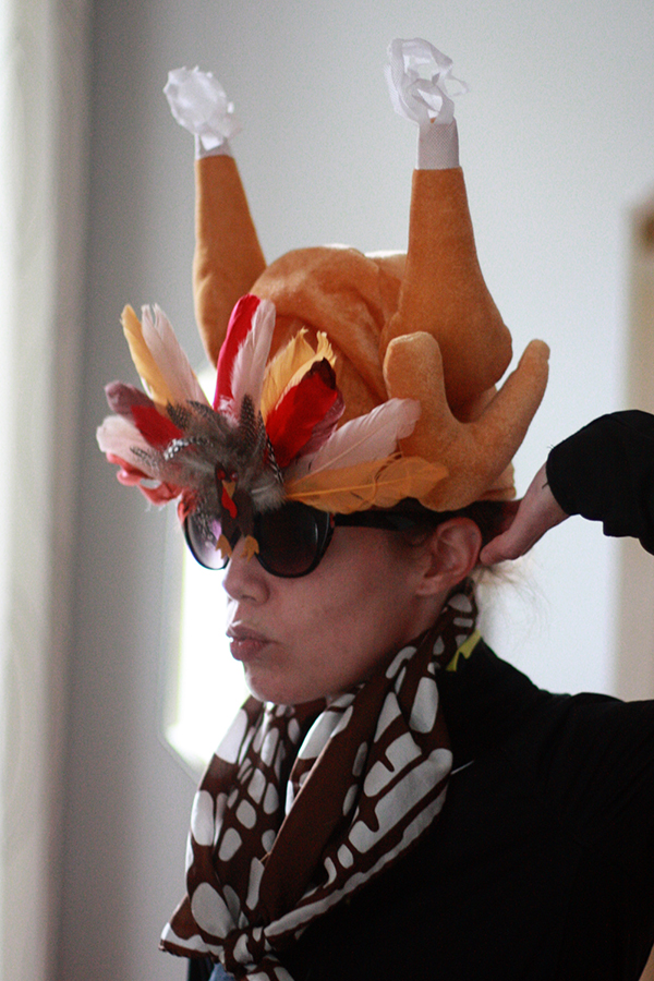 Aunt Peaches DIY turkey sunglasses