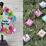 DIY New Year's Wreath + Holiday Gift Box Ornaments