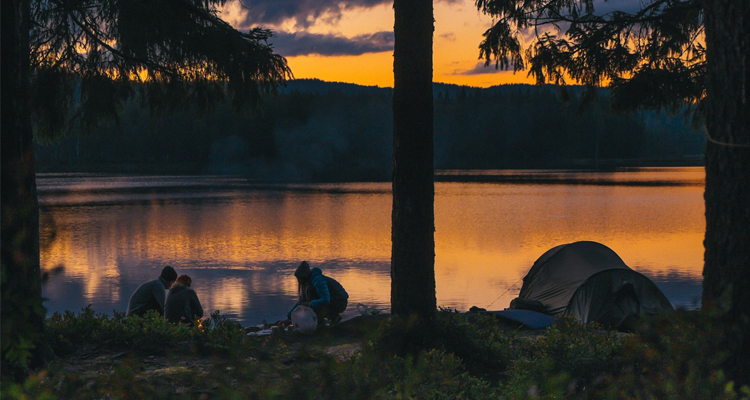 camping sunset