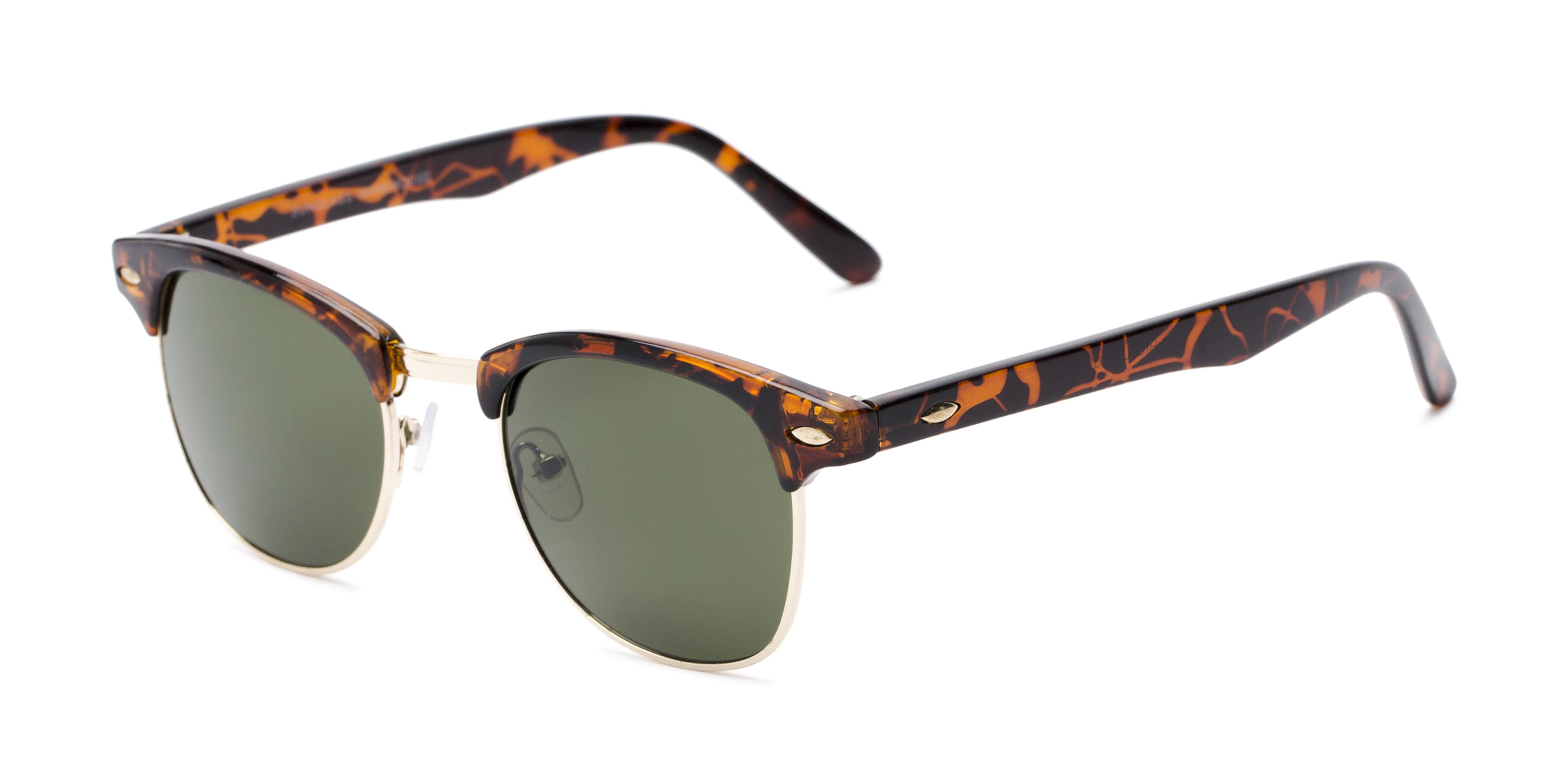 Whistler Brown Tortoise/Gold Frame with Green Lenses