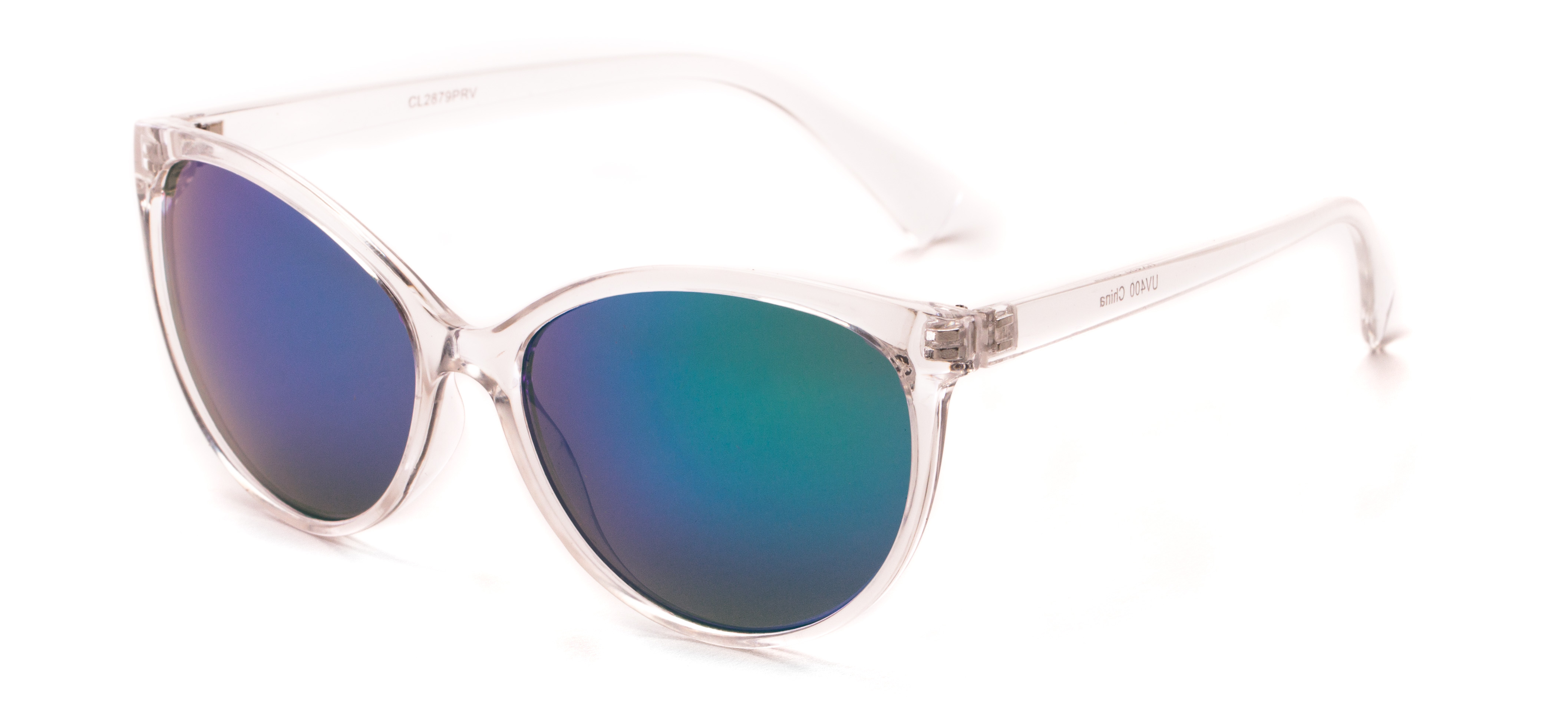 Paloma #2879 Clear Frame with Purple/Green Mirrored Lenses - High ...