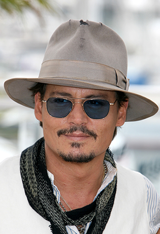 johnny depp in blue sunglasses