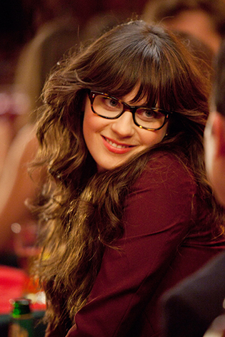 Zooey Deschanel in tortoise glasses on New Girl