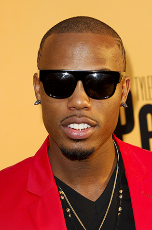 B.o.B. in flat top sunglasses