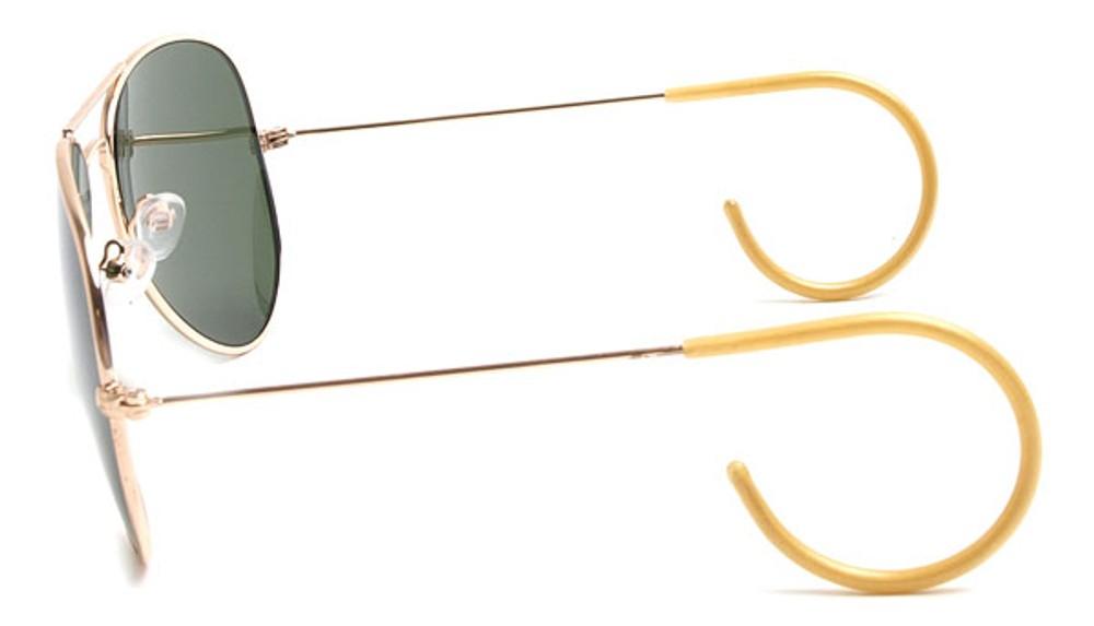 Cable Temple Ear Wrap Aviator Sunglasses