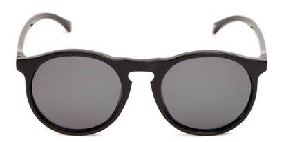 Front of Potrero #16030 in Glossy Black Frame with Grey Lenses