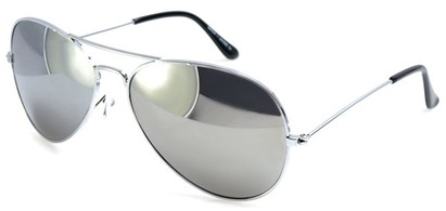 Image #1 of Women's and Men's SW Silver Aviator Style #1678