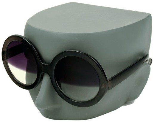 Round Half-Shaded Sunglasses