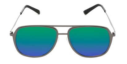 flat mirrored aviators
