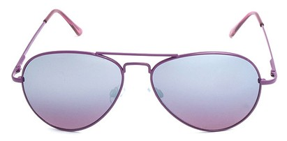 Mirrored Aviators with Colored Rims