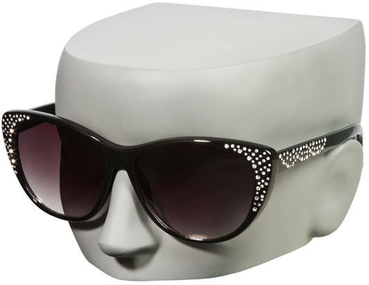 Cat Eye Sunglasses with Rhinestones