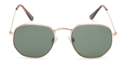 Front of Averitt #3129 in Gold Frame with Green Lenses