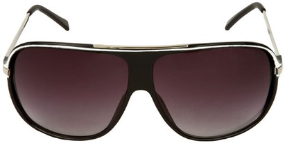 Oversized Aviator Shield Sunglasses