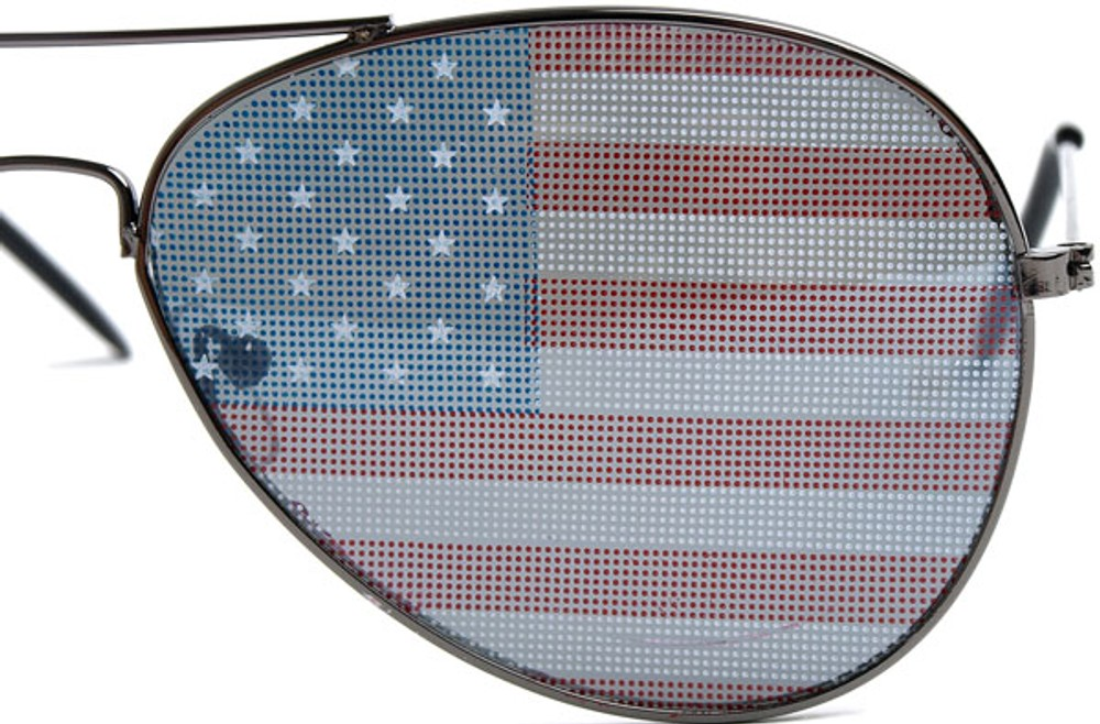 usa sunglasses  Flag Aviator Sunglasses