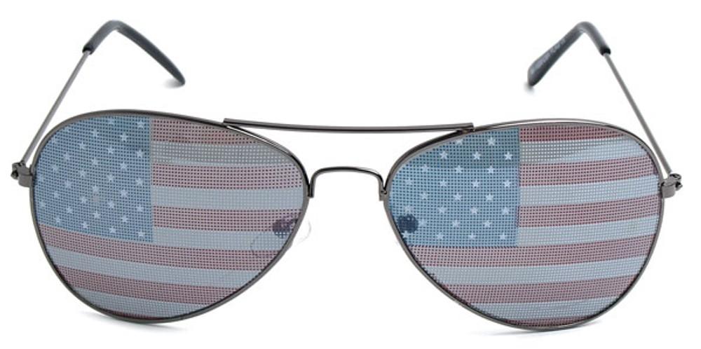 usa sunglasses  American Flag Aviator Sunglasses