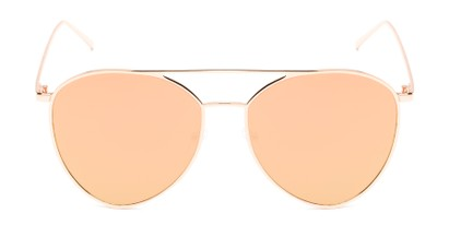 Front of Acorn #3146 in Rose Gold Frame with Pink Mirrored Lenses