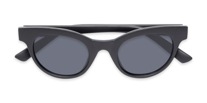 Folded of Ada #1619 in Matte Black Frame with Grey Lenses
