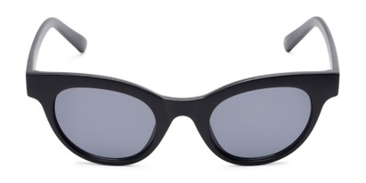 Front of Ada #1619 in Matte Black Frame with Grey Lenses