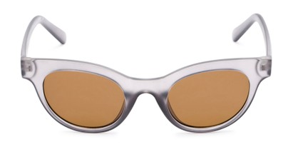 Front of Ada #1619 in Matte Grey Frame with Amber Lenses