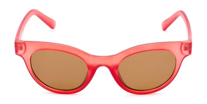 Front of Ada #1619 in Matte Red Frame with Amber Lenses