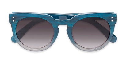 Folded of Addison #32032 in Blue Faded Frame with Smoke Lenses