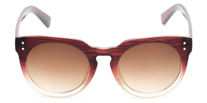 Front of Addison #32032 in Brown Faded Frame with Amber Lenses
