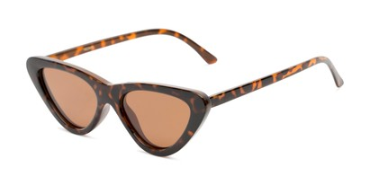Angle of Adelaide #41623 in Tortoise Frame with Amber Lenses, Women's Cat Eye Sunglasses